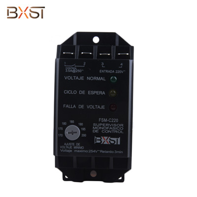 BX-V121 Three Phase 2-Line 3.5A Voltage Surge Protector for Home Appliance With Adjustable Low Voltage