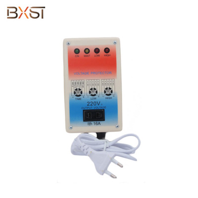 BX-V022 European Plug Voltage Surge Protector for  Refrigerator and Air Conditioner with Adjustable Delay Time
