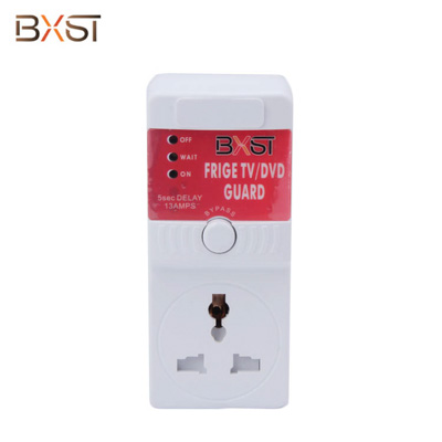 BX-V118 UK Plug Electrical Voltage Protector with Indicator Light and Protector Door for TV