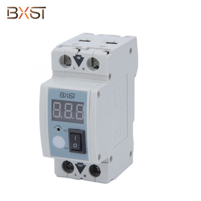 BX-V130 No Ground Wire Din Rail 2 Pole Current Limiter Circuit Breaker with Two Input and Output