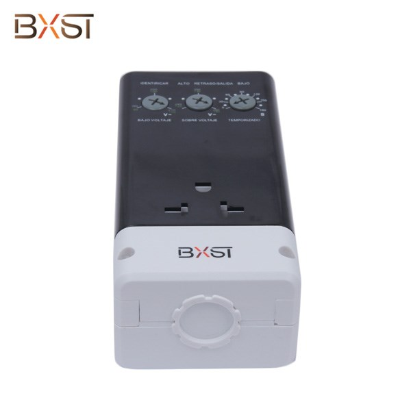 BX-V161-C No grounding Wiring Portable Electrical Voltage Protector with Adjustable Delay Time and Voltage