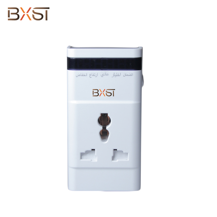 BX-V151 UK Plug General Socket 13A Voltage Surge Protector with Protective Door and LED for Home