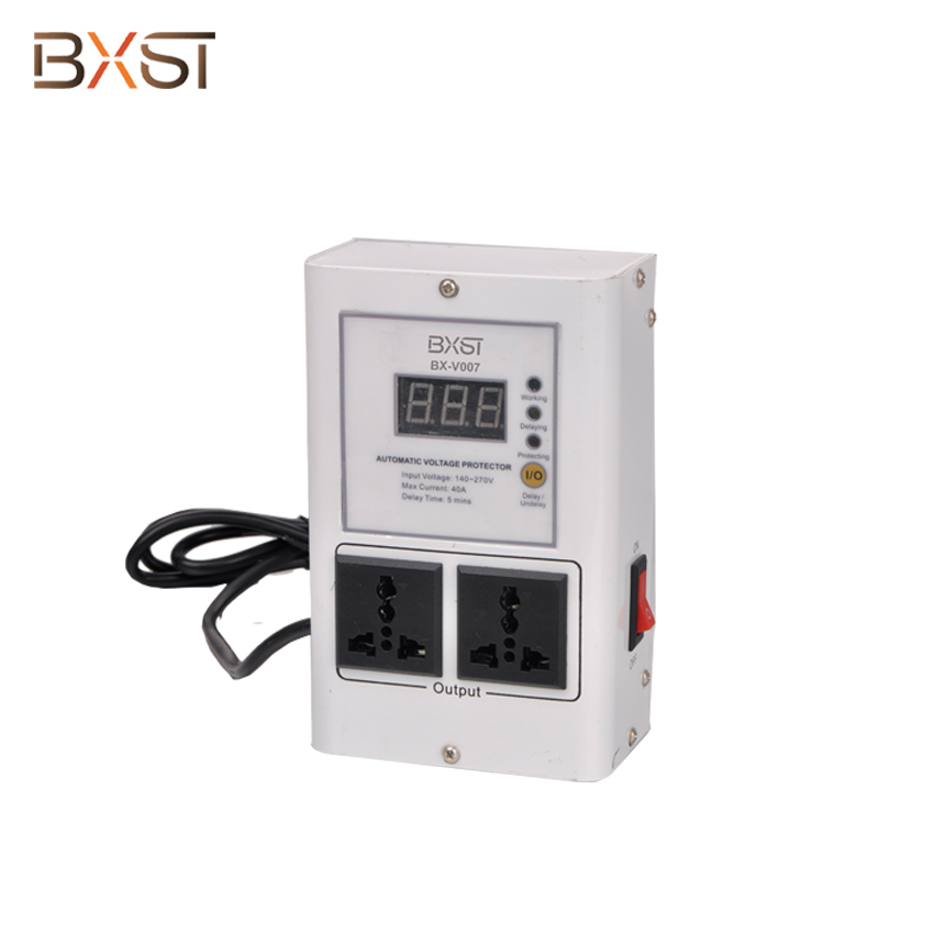 BX-V007 UK Plug 13A Voltage Surge Protector and Regulator with Short Circuit Protection for Home