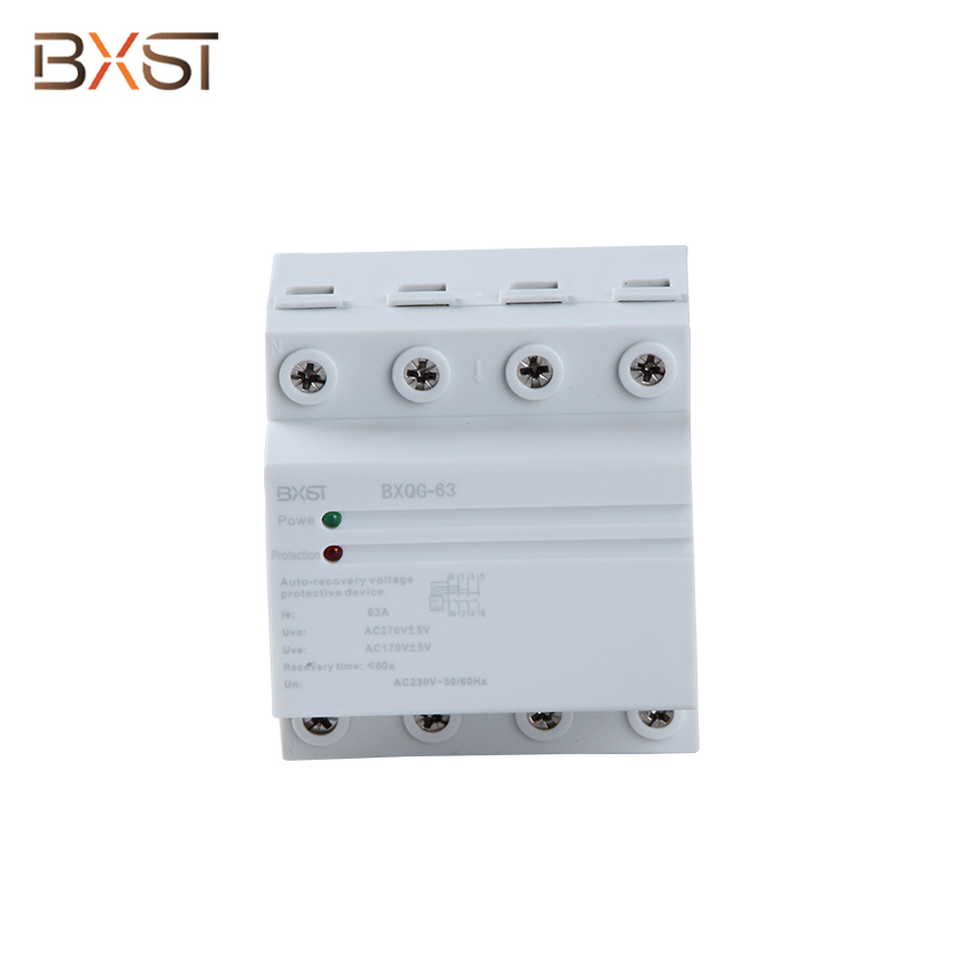 BX-V002 Din Rail Wiring Worldwide 230V 63A Three Phase Voltage Surge Protector and Regulator for Home