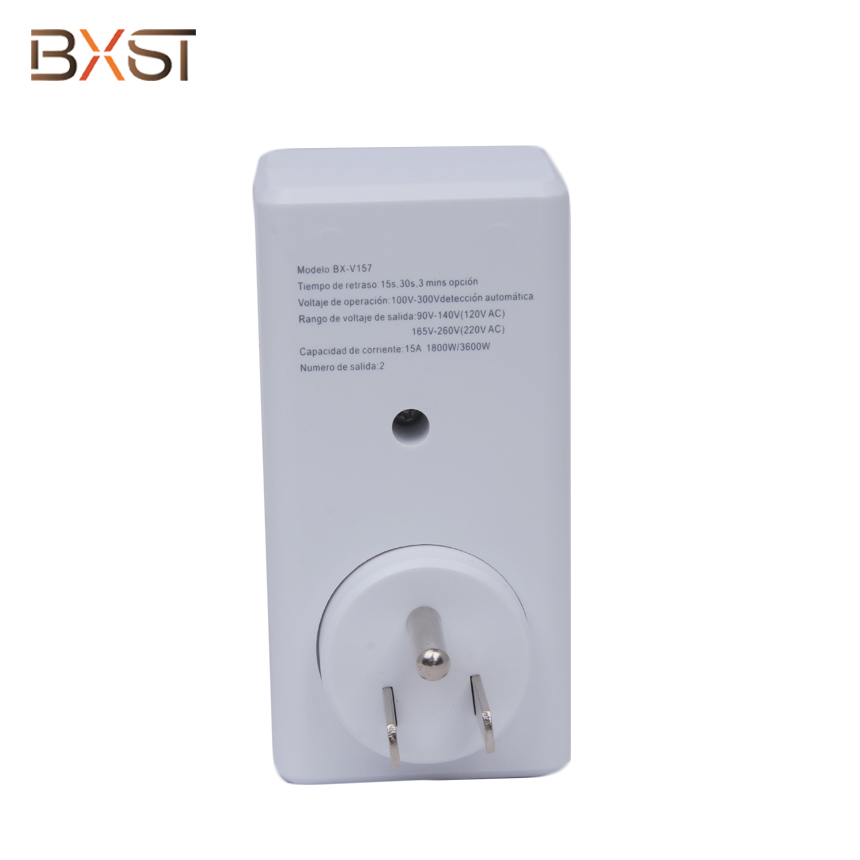 BX-V157 120V White Voltage Protector With Rotated Smart Switch And ETL Certificate
