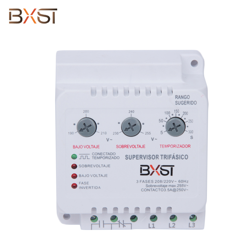 BX-V086  Ground Wiring Three Phase 3.5A Surge Voltage Protector with Adjustable Low and High Voltage