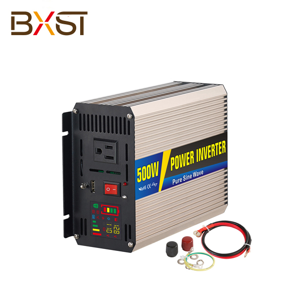 BX-IT002-500W 500W DC AC Single Phase Pure Sine Wave Inverter with LED Digital Display