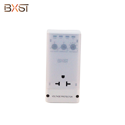 BX-V161-P American Rotated Plug Voltage Protector with Adjustable High/Low Voltage and Delay Time