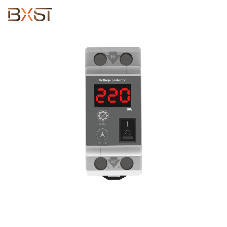 BX-V132 Electrical Mini AC Current Limiter Circuit Breaker with Led Digital Display and Adjustable Current