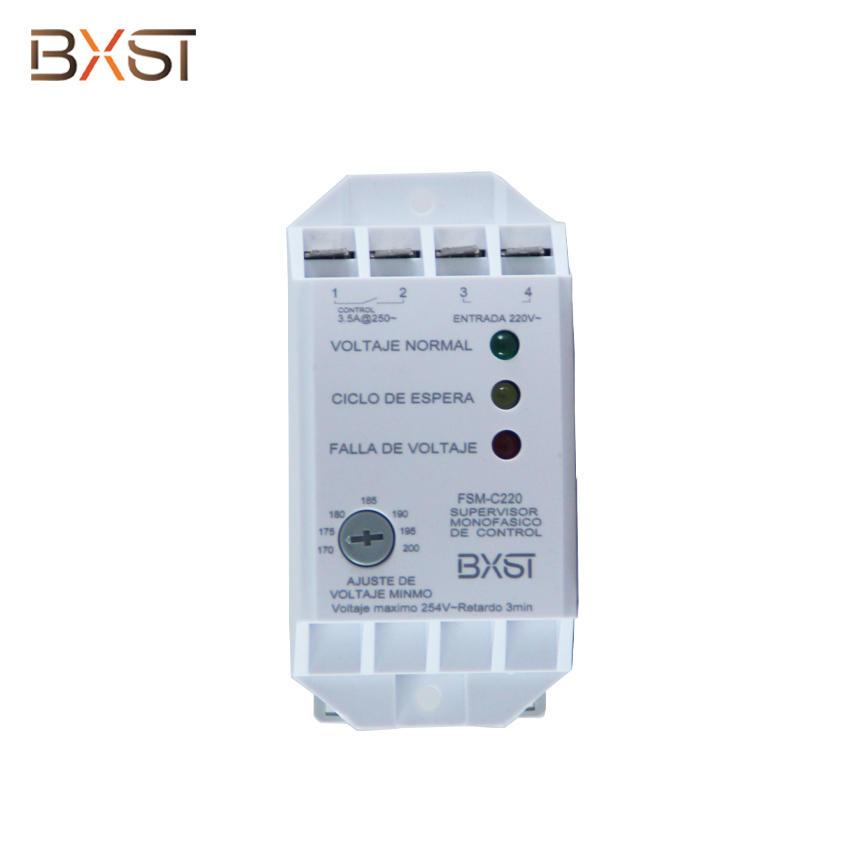 BX-V121 Rail Type Single-Phase  Low Voltage Delay Adjustable 3.5A Wiring Voltage Protector